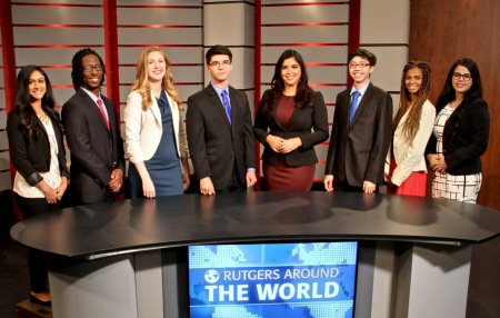 """""""Rutgers Around the World"""" anchors and reporters - shot by Hebert Peck"""
